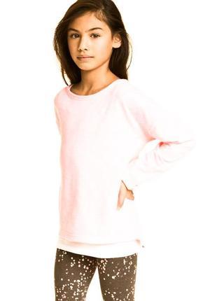 Бледно-розовый свитшот для девочки рост 134-140см от h&m
