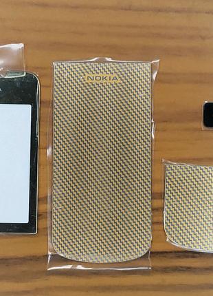 Комплект Стекол И Декор Наклеек На NOKIA 8800 Arte Gold Carbon