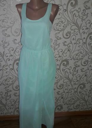 Вечернее шифоновое платье в пол