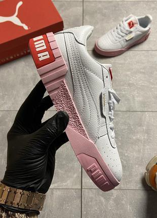 Кроссовки Puma Cali White and Pink Sole