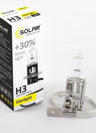 Галогеновая лампа Solar H3 +30% 12v/55w