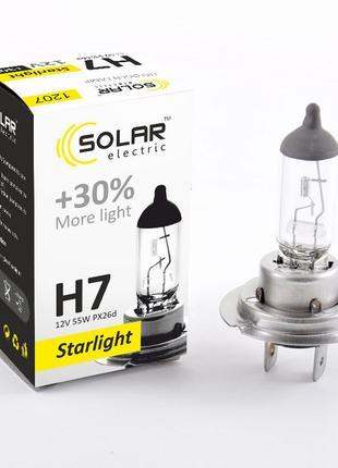 Галогеновая лампа Solar H4 +30% 12v 60/55w