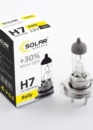 Галогеновая лампа Solar H7 +30% 12v/100w