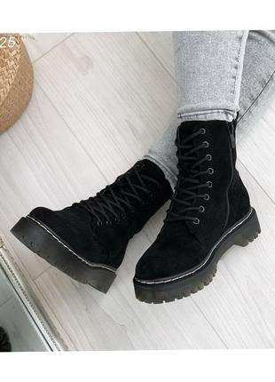 Ботинки женские на шнуровке 49125