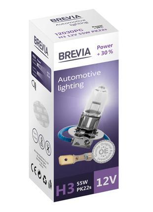 Галогеновая лампа Brevia H3 Power +30% 12v/55w