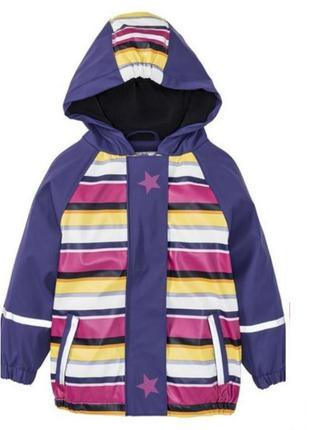 Детский дождевик на флисе, куртка грязепруф lupilu 86-92-110-116