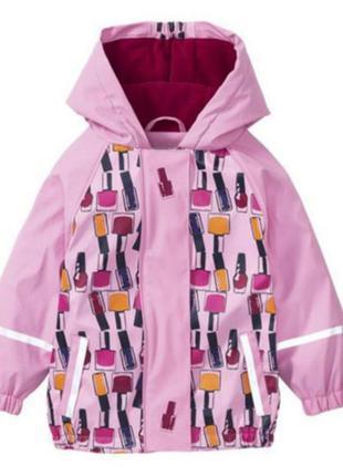Детский дождевик на флисе, куртка грязепруф lupilu 110-116