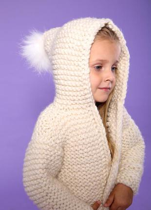 Пальто детское вязаное
