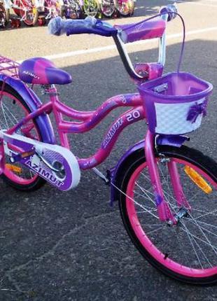Детский двухколесный велосипед Azimut Kiddy 16 дюймов розовый