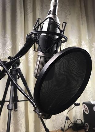 Микрофон Behringer b1+паук+поп-фильтр+стойка с кабелем