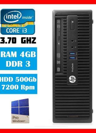 HP ProDesk 400 G2 Core i3-4170 4gb RAM 500gb HDD Win10 Pro