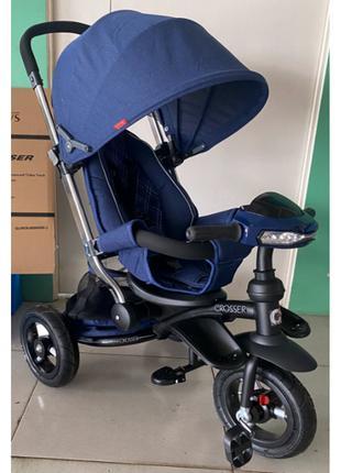 Трехколесный велосипед-коляска Azimut Crosser T-350 Eco Air New