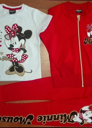 Спортивный костюм для девочек Minnie Mouse от 4-10 лет