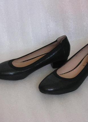 Туфли женские leinuo на низком каблуке, лодочки черные