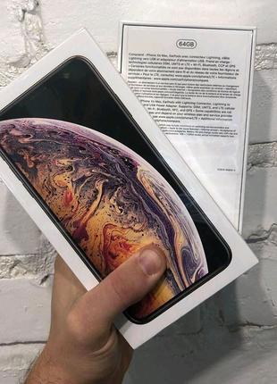iPhone XS Max 64 Gb Gold Neverlok новые ( Без face I'd)