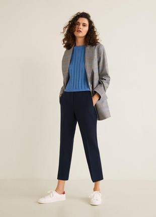 Укороченные костюмные брюки mango eur 36, 38