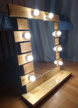 Зеркало гримерное, зеркало для визажиста ( рама) под заказ