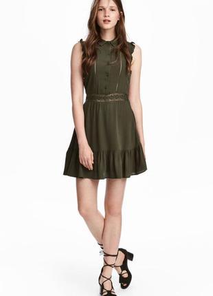 Платье с кружевными вставками h&m