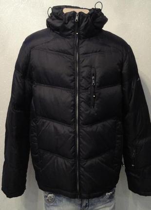 Удлиненная курточка, пуховик 50р, черная