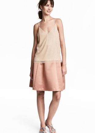 Атласная юбка клеш h&m