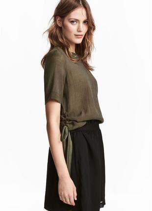 Блузка с кулисками h&m