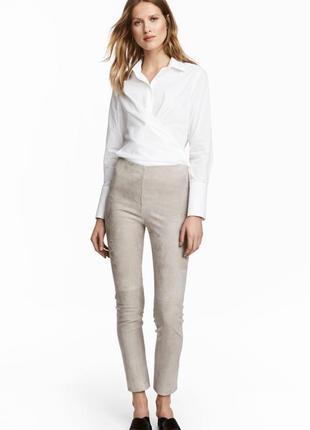 Замшевые брюки h&m размер 40