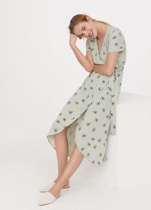 Длинное платье на запахе h&m