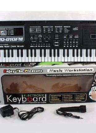 Детский синтезатор, пианино, орган MQ-010FM от сети, 61 клавиша,