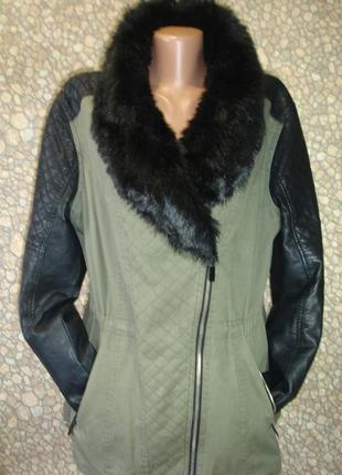 """Демисезонная куртка-ветровка с искусственным мехом """"atmosphre""""..."""