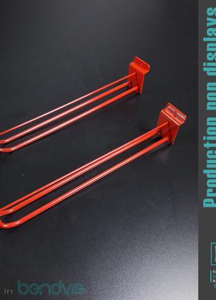 Крючки для экономпанелей двухполосные с ценникодержателем