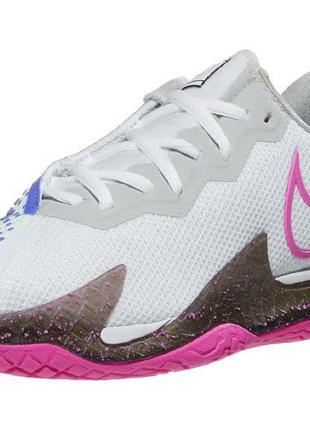 Nike Air Zoom Vapor Cage 4 Wh/Fuchsia Women's Shoe
