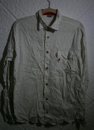 Мужская рубашка длинный рукав хлопок полоска