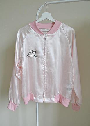 Бомбер атласная ветровка рубашка куртка