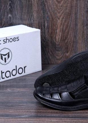 Мужские кожаные летние туфли matador brown 52ч