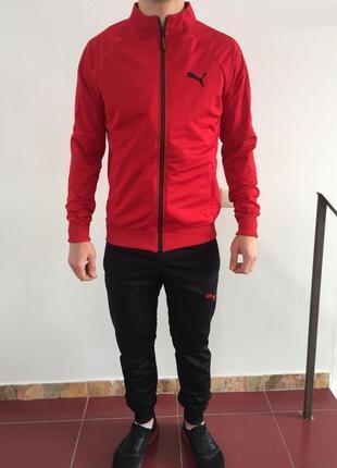 Костюм спортивный мужской pm 8999-06 красный с черным