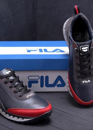 Мужские кожаные кроссовки f15 с
