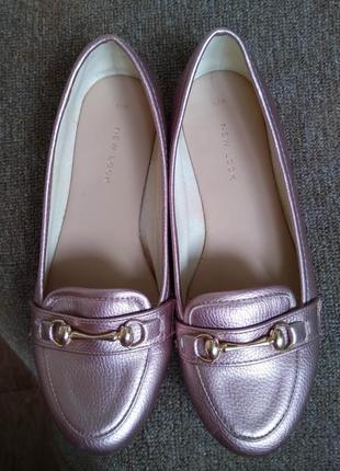 Женские туфли new look на плоской подошве/лоферы/мокасины/брон...