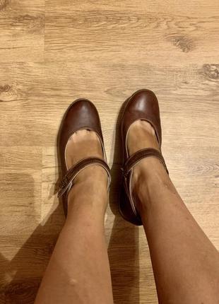 Кожаные туфли 41 размер 🌷на широкую ножку