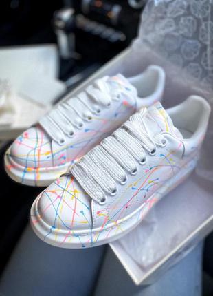 Кроссовки alexander mcqueen rainbow