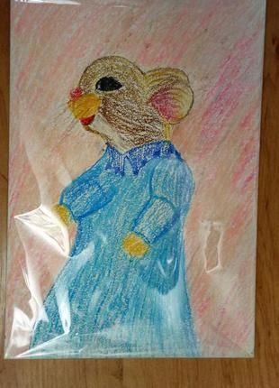 """Картина """"Мышка с горбиком"""""""