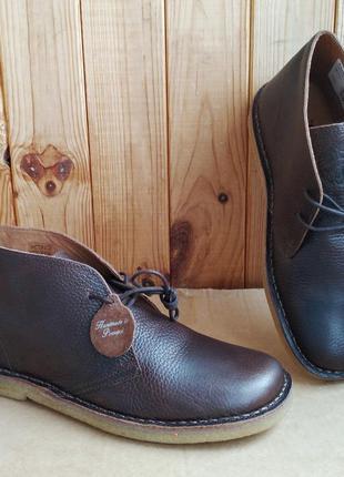 Шикарные полностью кожаные ботинки португальские дезерты prett...