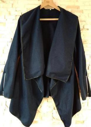 """Стильный,тёплый,асимметричный,кардиган-пальто-трансформер с """"к..."""