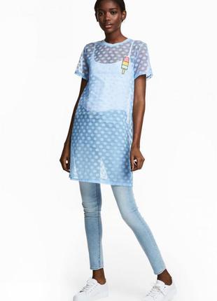 Платье-футболка из тюля h&m