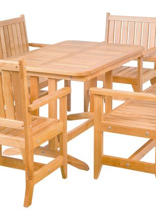 Комплект раскладной садовой мебели – ( материал Ольха  )