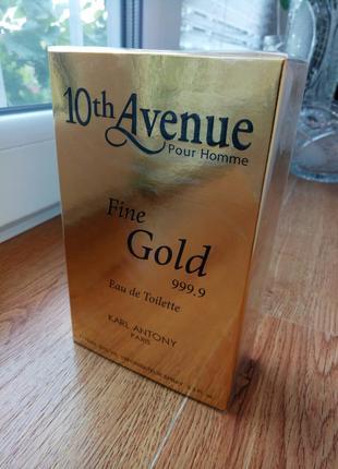 Туалетная вода мужская новая 10th Avenue Fine Gold 999.9