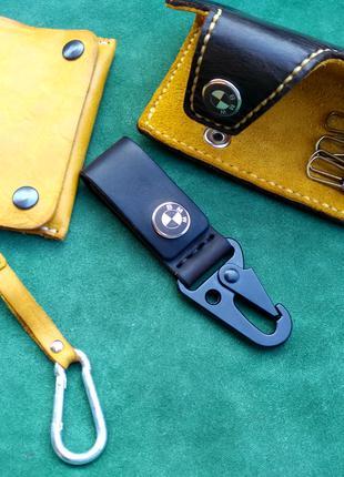 Кошелек ключница брелок ножны чехол из кожи ручной работы