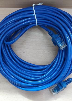 Кабель LAN CAT5 15m синий cheap RG45