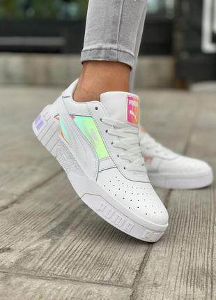 Кроссовки puma cali white sport mix кросівки
