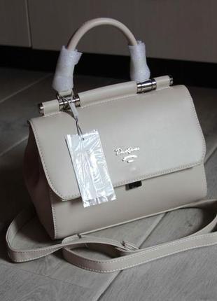 Женская сумка, сумочка на плечо бежевая розовая david jones, б...