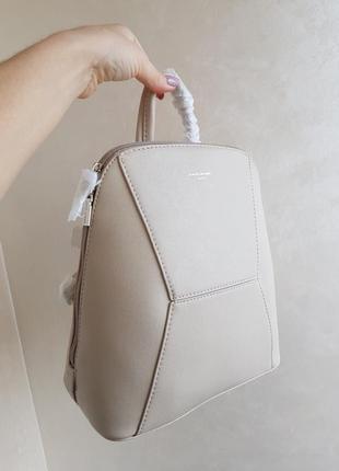 Женский рюкзак в школу бежевый david jones для девочки